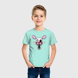 Футболка хлопковая детская Mangle FNAF цвета мятный — фото 2