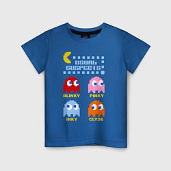 Футболка хлопковая детская Pac-Man: Usual Suspects цвета синий — фото 1