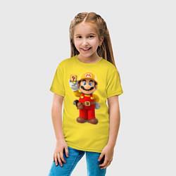 Футболка хлопковая детская Super Mario цвета желтый — фото 2