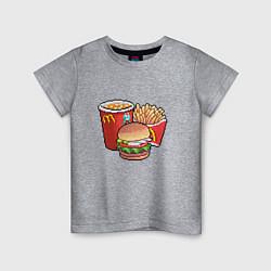 Детская футболка Фастфуд