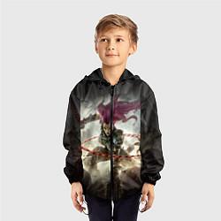 Ветровка с капюшоном детская Darksiders Warrior цвета 3D-черный — фото 2