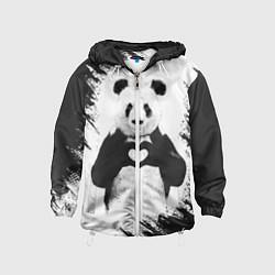 Ветровка с капюшоном детская Panda Love цвета 3D-белый — фото 1