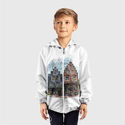 Ветровка с капюшоном детская Амстердам цвета 3D-белый — фото 2