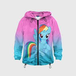 Ветровка с капюшоном детская My Little Pony цвета 3D-черный — фото 1