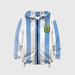 Ветровка с капюшоном детская Сборная Аргентины: ЧМ-2018 цвета 3D-черный — фото 1
