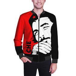 Бомбер мужской Че Гевара цвета 3D-черный — фото 2