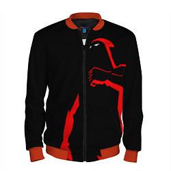 Бомбер мужской Dethklok: Dark Man цвета 3D-красный — фото 1