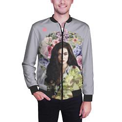 Бомбер мужской Lorde Floral цвета 3D-черный — фото 2