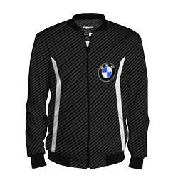 Бомбер мужской BMW Motorsport Carbon цвета 3D-черный — фото 1