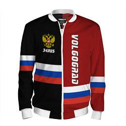 Бомбер мужской Volgograd, Russia цвета 3D-белый — фото 1