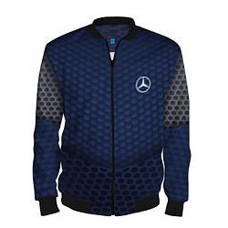Мужской 3D-бомбер на молнии с принтом Mercedes: Sport Motors, цвет: 3D-черный, артикул: 10148324504420 — фото 1