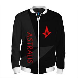 Бомбер мужской Astralis: Dark Style цвета 3D-белый — фото 1