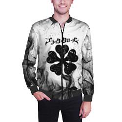 Бомбер мужской ЧЁРНЫЙ КЛЕВЕР цвета 3D-черный — фото 2