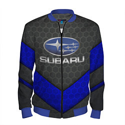 Бомбер мужской SUBARU цвета 3D-синий — фото 1