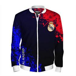 Бомбер мужской Real Madrid цвета 3D-белый — фото 1