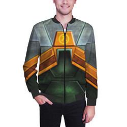Бомбер мужской Gordon Freeman: Costume цвета 3D-черный — фото 2