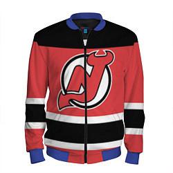 Бомбер мужской New Jersey Devils цвета 3D-синий — фото 1