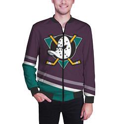 Бомбер мужской Anaheim Ducks Selanne цвета 3D-черный — фото 2