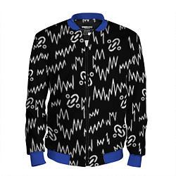 Бомбер мужской Chemical Brothers: Pattern цвета 3D-синий — фото 1
