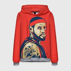 Толстовка-худи мужская LeBron James цвета 3D-меланж — фото 1