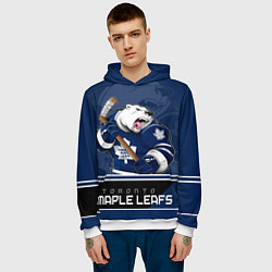 Толстовка-худи мужская Toronto Maple Leafs цвета 3D-белый — фото 2