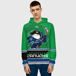Толстовка-худи мужская Vancouver Canucks цвета 3D-меланж — фото 2