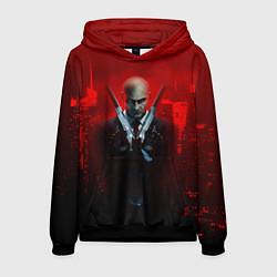 Толстовка-худи мужская Hitman: Red Blood цвета 3D-черный — фото 1