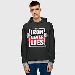 Толстовка-худи мужская The iron never lies цвета 3D-меланж — фото 2