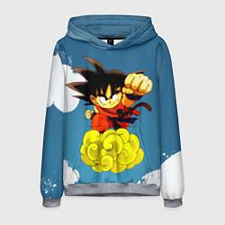 Толстовка-худи мужская Small Goku цвета 3D-меланж — фото 1