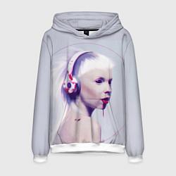 Толстовка-худи мужская Die Antwoord: Wild Eyes цвета 3D-белый — фото 1