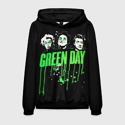 Толстовка-худи мужская Green Day: Acid eyes цвета 3D-черный — фото 1
