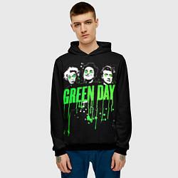 Толстовка-худи мужская Green Day: Acid eyes цвета 3D-черный — фото 2
