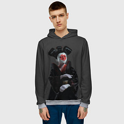 Толстовка-худи мужская Ghost In The Shell 2 цвета 3D-меланж — фото 2