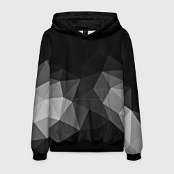 Толстовка-худи мужская Abstract gray цвета 3D-черный — фото 1