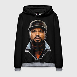 Толстовка-худи мужская Ice Cube цвета 3D-меланж — фото 1