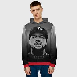Толстовка-худи мужская Ice Cube: Gangsta цвета 3D-красный — фото 2