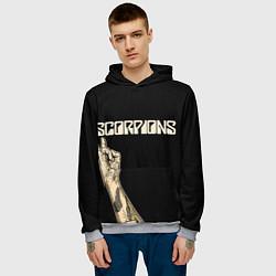 Толстовка-худи мужская Scorpions Rock цвета 3D-меланж — фото 2