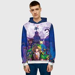 Толстовка-худи мужская The Legend of Zelda цвета 3D-белый — фото 2