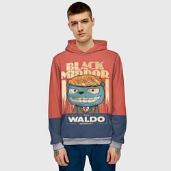 Толстовка-худи мужская Black Mirror: The Waldo цвета 3D-меланж — фото 2