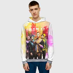 Толстовка-худи мужская Coldplay цвета 3D-меланж — фото 2
