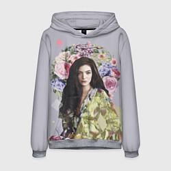 Толстовка-худи мужская Lorde Floral цвета 3D-меланж — фото 1