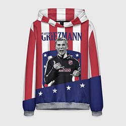 Толстовка-худи мужская Griezmann: Atletico Star цвета 3D-меланж — фото 1