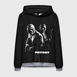 Толстовка-худи мужская Payday цвета 3D-меланж — фото 1