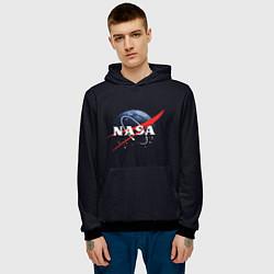 Толстовка-худи мужская NASA: Black Space цвета 3D-черный — фото 2