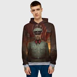 Толстовка-худи мужская Wolfenstein: Wilhelm Strasse цвета 3D-меланж — фото 2
