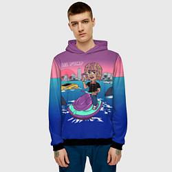 Толстовка-худи мужская Lil Pump on the water цвета 3D-черный — фото 2