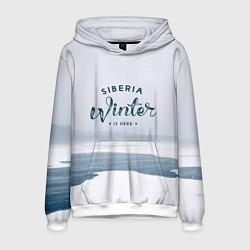 Толстовка-худи мужская Siberia Winter цвета 3D-белый — фото 1