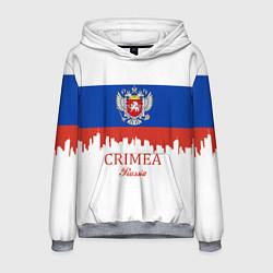 Толстовка-худи мужская Crimea, Russia цвета 3D-меланж — фото 1