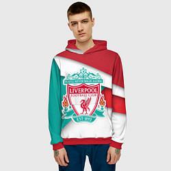 Толстовка-худи мужская FC Liverpool цвета 3D-красный — фото 2