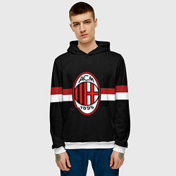 Толстовка-худи мужская AC Milan 1899 цвета 3D-белый — фото 2